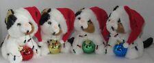 Best Ever Stuffed animal Kitty Cat Kitten Santa Hat Christmas Decoration U Pick