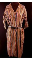 VINTAGE 1950'S DEADSTOCK COTTON STRIPED MR. HENRY DRESS