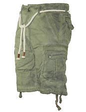 vaqueros hombre pantalón corto largo Bermudas Pantalones Capri Con Cinturón 8835
