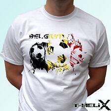 Belgium football - white t shirt flag top design - mens womens kids baby sizes