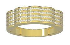 1.10Ct Natural Diamond Jewelry White Gold Men's Engagement Wedding Ring SZ 4-12