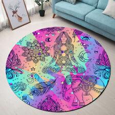 Boho Style Area Rug Hippie Element Tribal Symbol Carpet Floor Decor Rug Yoga Mat