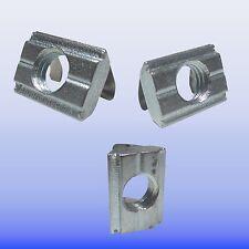 10x 20x 50x  Nutenstein mit Feder für Aluprofil 30 Nut 8- B Raster Gewinde  M6