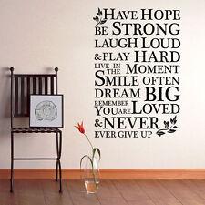 Have Hope ISPIRAZIONE vinilico grande wall Art adesivi- CITAZIONI murale-decal