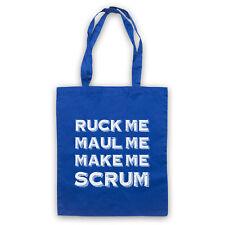 RUCK ME MAUL ME MAKE ME SCRUM FUNNY RUGBY SLOGAN SPORTS SHOULDER TOTE SHOP BAG