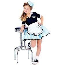 Girls Child 50s CAR HOP GIRL Waitress Costume Dress