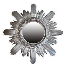 Baroque Mirror round round Wall Mirror Sun Sun in Silver 42x42 Cm New