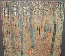 """GUSTAV KLIMT """"FOREST"""" LARGE COLOR POSTER"""