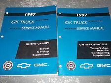 1997 Chevrolet Chevy TAHOE CK C/K TRUCK Service Shop Supplement Manual Set OEM