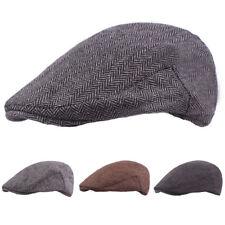 Men Classic Winter Warm Berets Driving Golf Cap Casual Cabbie Newsboy Hat NEW