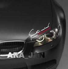 Sports mind UNLEASHED Decal Sticker sport car racing hood logo auto performance
