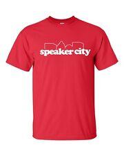 Speaker City Old School Funny Movie Relax Time Men's  Tee Shirt 161