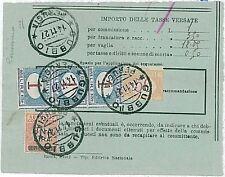 ITALIA REGNO: SEGNATASSE su ricevuta di GUBBIO