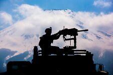 US Marines weapon training at Camp Fuji near Mount Fuji Japan Photo Print