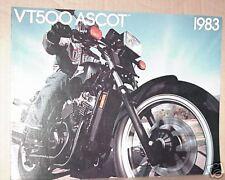 1983 Honda VT500 FT ASCOT Motorcycle Sales Brochure - Literature