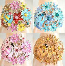 BRACCIALE donna RIGIDO cristalli STRASS bracelet armband pulsera браслет NV