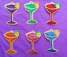 Margarita Wall Art Mexican Handmade Painted Tin Hanging Ornaments Rainbow