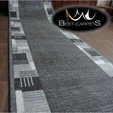 épais CHEMIN DE TABLE Tapis Montana gris moderne anti-dérapant escaliers largeur