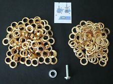 Ösen mit Scheiben 14 mmØ inklusive Anleitung und Werkzeug Rostfrei Gold