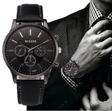 Mens  Wrist Watches Fashion Leather Strap in Colour Black Blue Analog Quartz