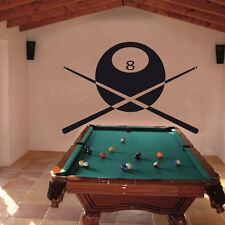 Wandtattoo Billiard Hobby Sport Kugel Team +118+