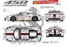 [FFSMC Productions] Decals 1/43 Ferrari F-458 Challenge Alex Popow (season 2012)