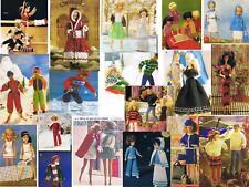 60+ Barbie Sindy Action man DOLL FASHION CLOTHES Lavorato A Maglia Schema su CD Buy2get3