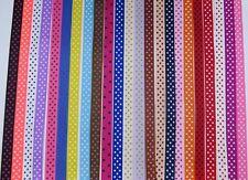 10mm Polka Dot Grosgrain Ribbon 24 colours card making craft Hair Clip