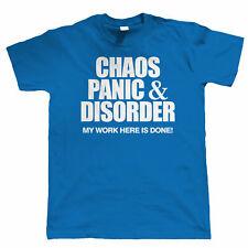 Panico Caos Disordine & Divertente T Shirt da Uomo-Regalo Per Papà Grandad Natale