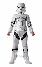 BOYS STORMTROOPER KIDS COSTUME STAR WARS STORM TROOPER WHITE FANCY DRESS OUTFIT