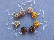 SHAMBALLA Ohrringe Silber 925 Ohrhänger Zirkonia GLITZER DIRNDL TRACHT Farbwahl