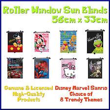 8 x temi Auto Finestra Roller Sun Shades TENDE ORIGINALI DISNEY MARVEL PER BAMBINI