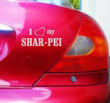 Cartattoo 4you ai-01306 I Love (corazón) my shar-pei * pegatinas auto Dog perros