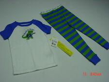 NWT Toddler Boys 2 pc Pajama Set Blue Green Alligator Rock N Roar sleep outfit
