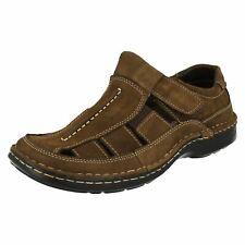 Herren Padders Brecher Braunes Leder Freizeit Sandalen Schuhe