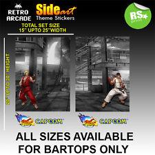STREET FIGHTER ARCADE lato Wrap & Adesivo Set con loghi / stratificato tutte le taglie