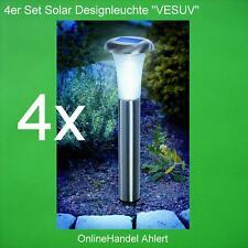 4 LED Solarlampe Solar Leuchte Lampe Gartenleuchte Akku Gartenlampe Edelstahl !!