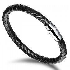 Leather Bracelet Magnetic Fastener 200mm Personalised Free Engraving