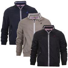 Mens Light Weight Jacket Harrington Golf Mod Retro Coat Checked Lined Kangol