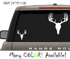 Deer Skull Vinyl Decal Antlers Horn Bone Rack Hunting Bow Gun Truck Car Sport