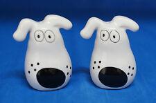 Retro Dog Ceramic Salt and Pepper Shakers S&P by Susan Watkins