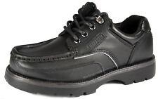 Kids Boys Black Leather macadam keane comfortable lace up shoes UK 1-6