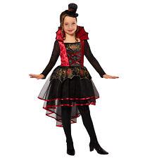 Deluxe Vampiresa Fancy Dress Costume Chicas Niño Halloween Vampiro