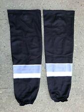 New listing Sp Edge Style Pro Stock Hockey Socks Black and Grey 9212