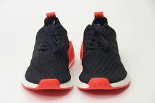 Adidas NMD R2 Primeknit Running Shoes Core Black Red White BA7252 Mens SZ  5.5 6 784a0087a