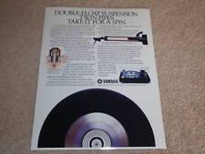 Yamaha PF-800 Ultimate Turntable Ad,1984,Article, RARE!