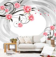 3D Belle Jasmin 87  Photo Papier Peint en Autocollant Murale Plafond Chambre Art