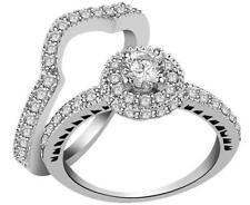 Real Diamond Bridal Engagement Ring I1 H 1.05Ct Prong Set 14K White Gold 10.30MM