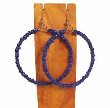 """2"""" Handmade Solid Color Seed Bead Hoop Earring 8 COLORS!"""