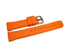 Uhrenarmband Kautschuk Silikon extra stark orange Wasserfest 20mm 22mm 24mm